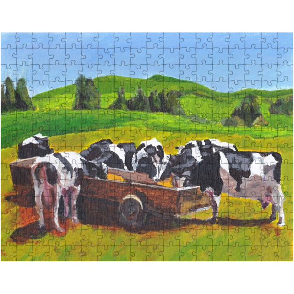 cows in field 252 piece jigsaw puzzle