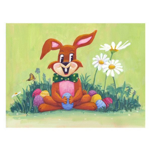 Easter Bunny and Eggs Poster