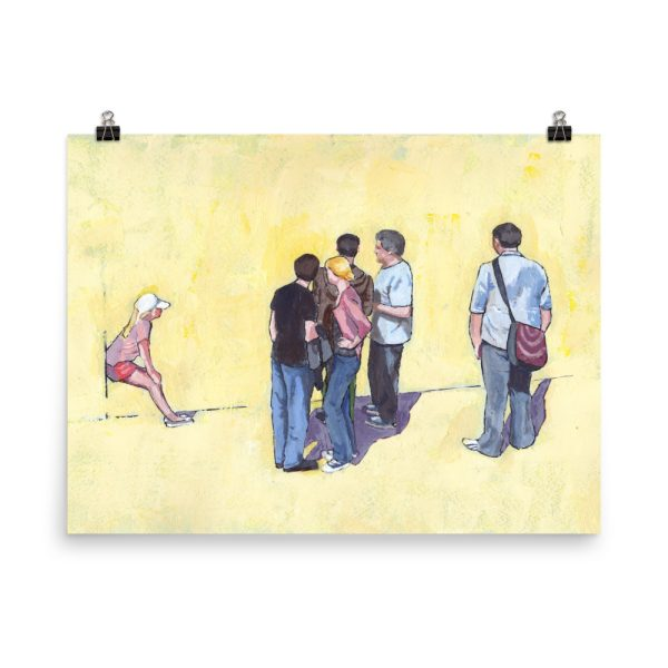 People Standing and Watching Poster