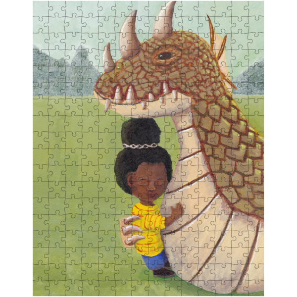 Girl and Guardian Dragon 252 Piece Jigsaw Puzzle
