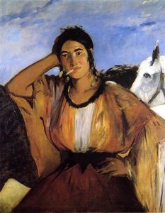 Gypsy with a Cigarette, Manet