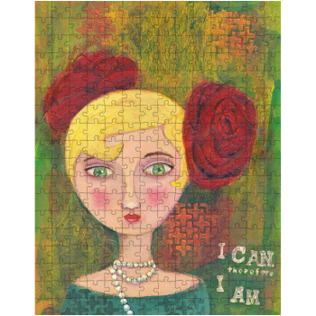 Mixed Media Lady 252 Piece Jigsaw Puzzle