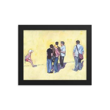 People Stand and People Watch Framed Print 8 x 10 inches