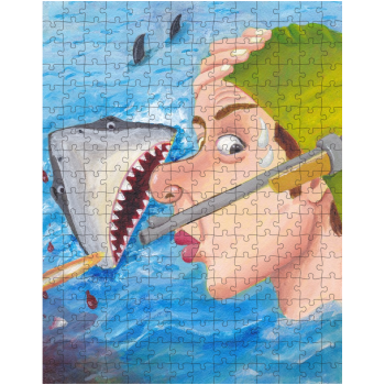 Shark Shock 252 Piece Jigsaw Puzzle
