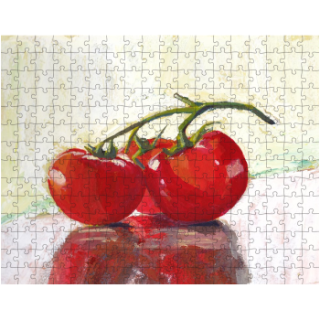 Three Tomatoes 252 Piece Jigsaw Puzzle