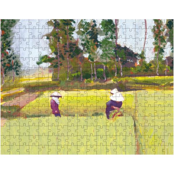 Vietnamese Paddy Fields 252 Piece Jigsaw Puzzle