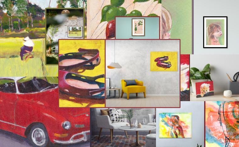 A Selection of Tina Lewis' Art