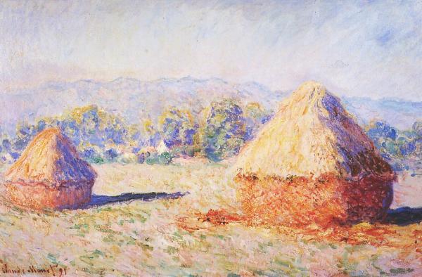 Grain Stacks in the Sunlight, Monet