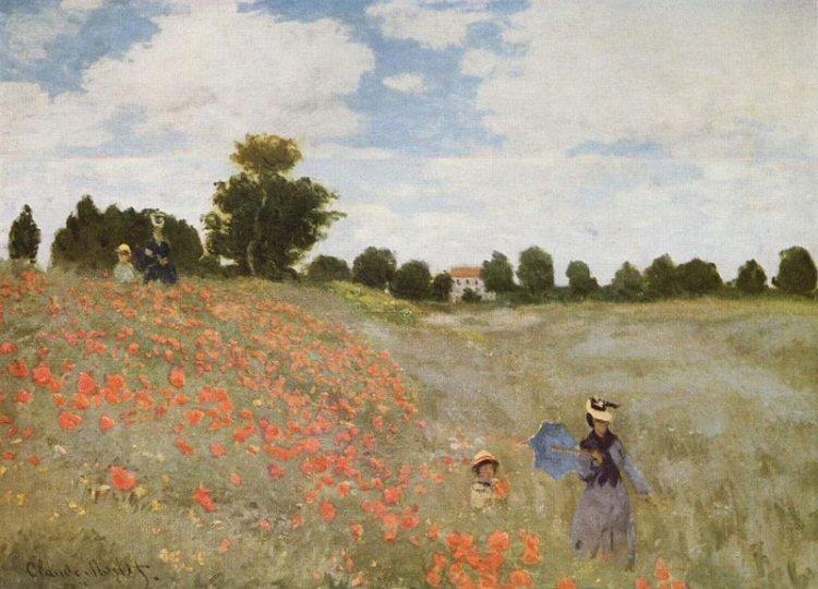 Poppy Field, Monet