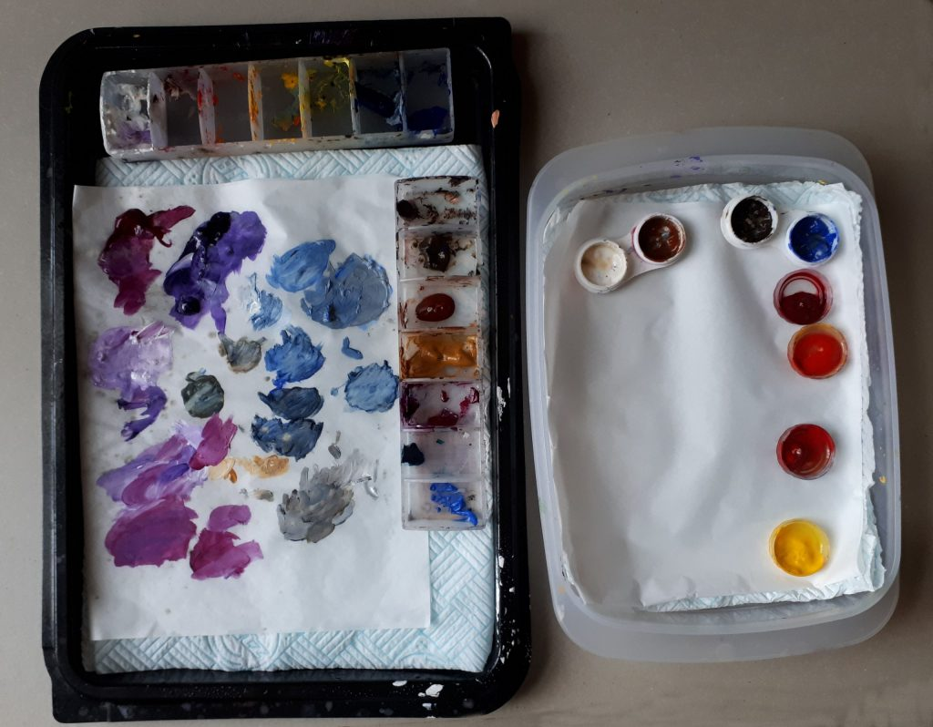Two Home Made Wet Palettes