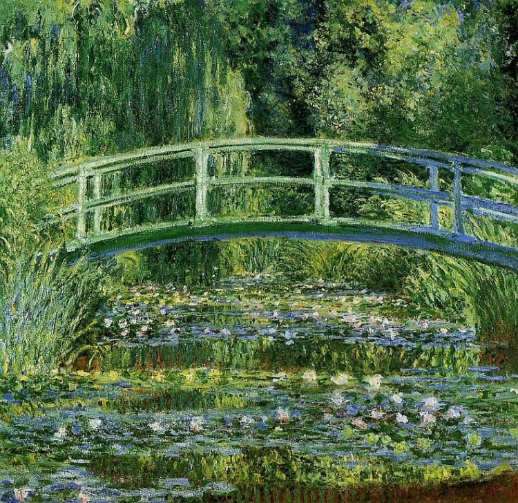 Water Lilies and Japanese Bridge, Monet