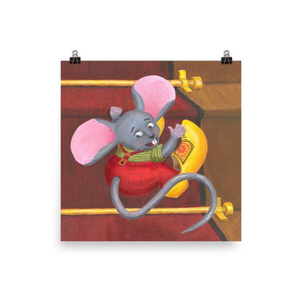Mouse with Clogs On Poster