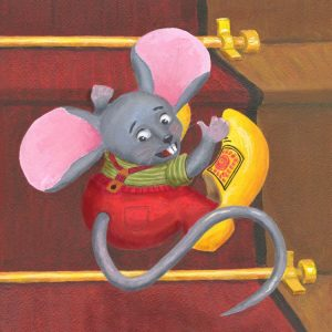 Little Mouse with Clogs On Painting