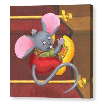 Mouse with Clogs On Canvas Print