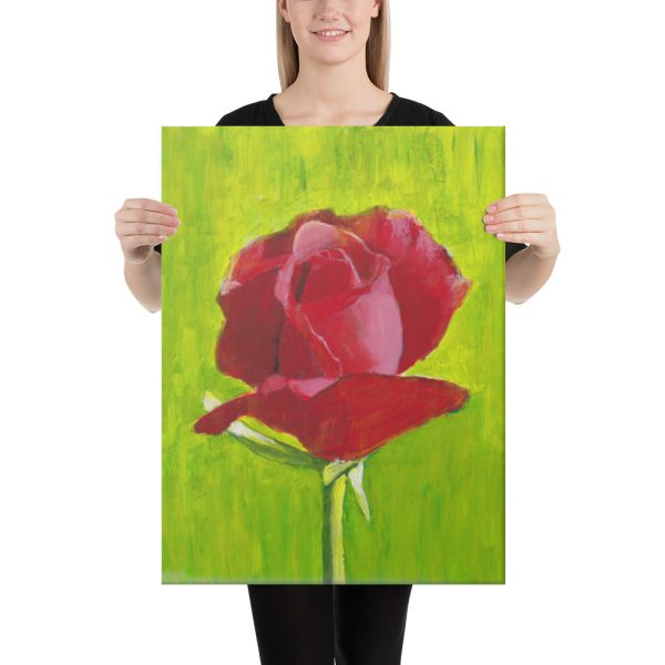 Red Rose Canvas Print 18x24