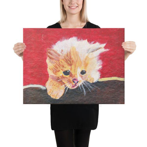 Naughty Kitten Canvas Print 18x24