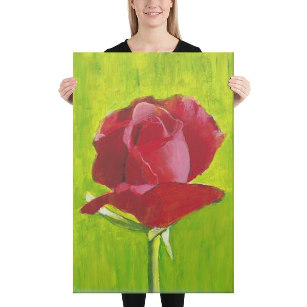 Red Rose Canvas Print 24x36