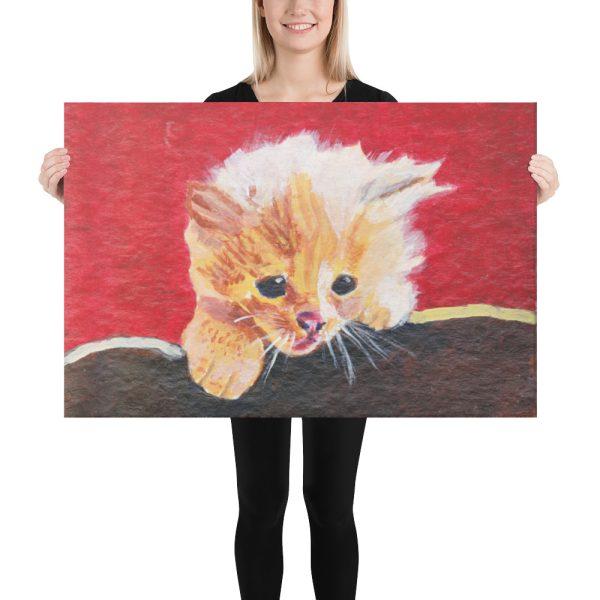 Naughty Kitten Canvas Print 24x36