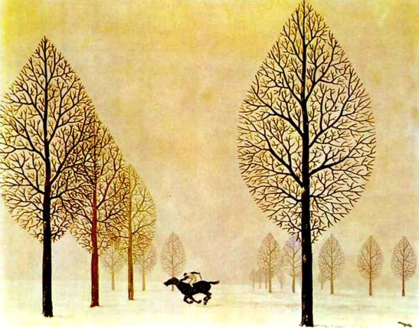 The Lost Jockey, Magritte