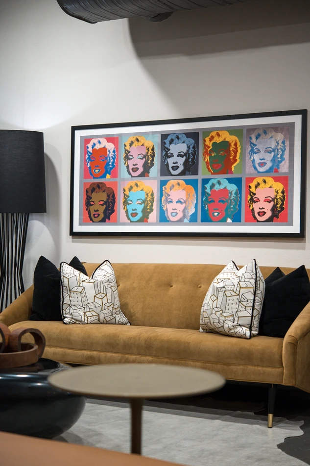 Prints of Marilyn Monroe's face makes a striking art print