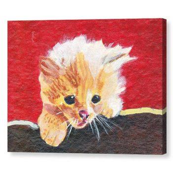 Naughty Kitten Canvas Print 12x16