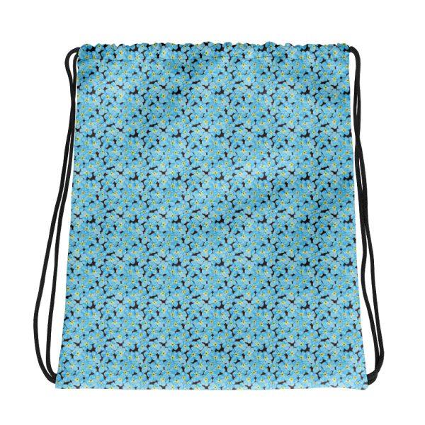 Forget Me Not Pattern Drawstring Bag