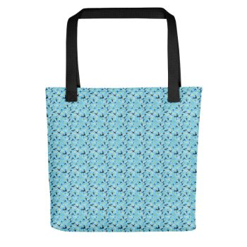 Forget Me Not Pattern Tote Bag