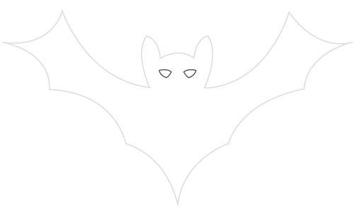 Draw the bat's eyes