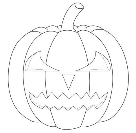 How to draw a jagged teeth Halloween  pumpkin face