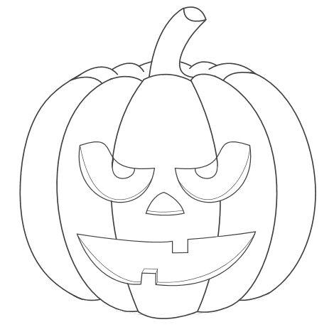 How to draw a creepy eyed Halloween pumpkin face