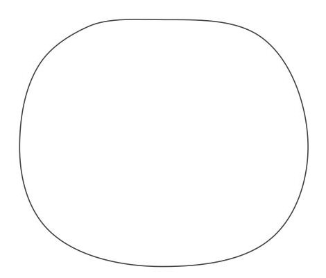 A flattened circle to start with.
