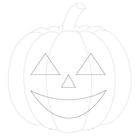 How to draw a halloween pumpkin face