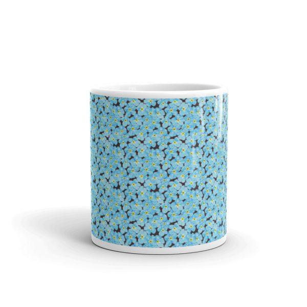 Forget Me Not Pattern Glossy Ceramic Mug 11oz
