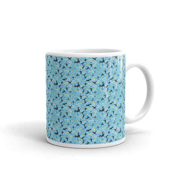 Forget Me Not Pattern Glossy Ceramic Mug