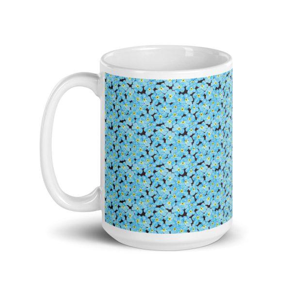 Forget Me Not Pattern Glossy Ceramic Mug 15oz