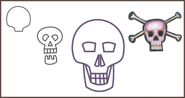 How to Draw a Skull for Halloween