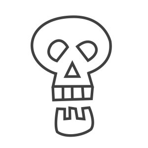 How to draw a skull - a skull icon