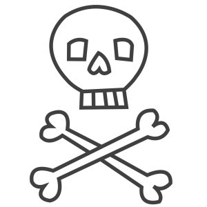A skull and crossbones