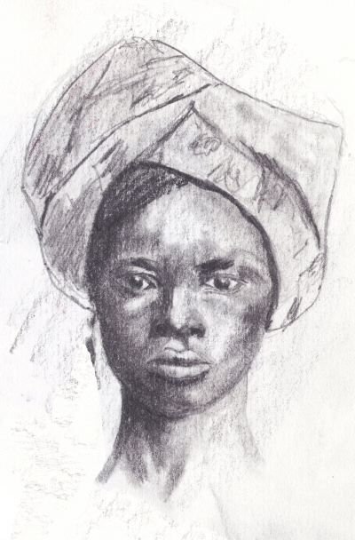 Woman in Head Tie