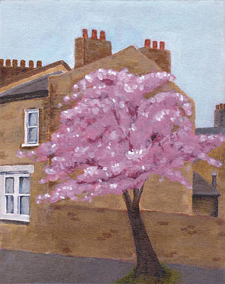 Cherry Blossom And Terrace In East Greenwich