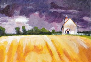 Yellow Fields Purple Sky