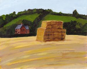 Haystack In The English Countryside