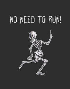 Running Skeleton T-shirt Design