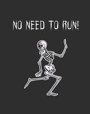 Running Skeleton T-shirt Design